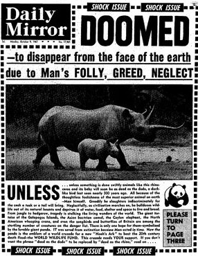 The Mirror's front page in 1961