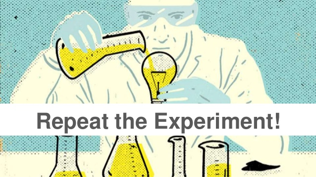 need for repeating the procedure in experiment